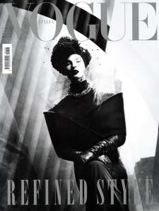 Linda Evangelista by Steven Meisel Vogue Italia August 2009